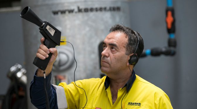 Ultra sonic leak detection with KAESER